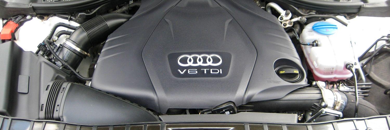 Двигатель автомобиля Audi A6 2014 года