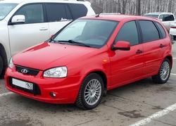 Автомобиль Lada Kalina Спорт красная